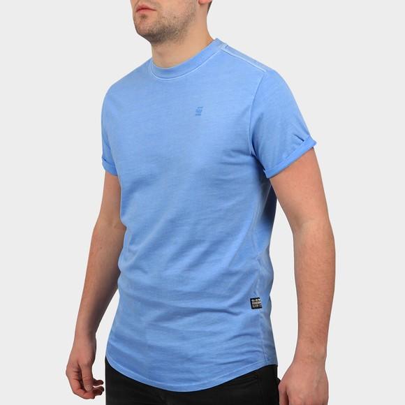 G-Star Mens Delta Blue Heather Lash Crew Neck T-Shirt