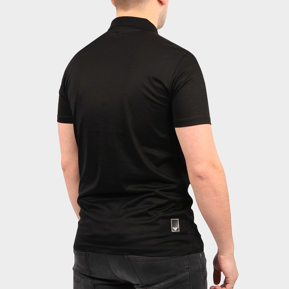 Emporio Armani Mens Black Zip Neck Polo Shirt main image