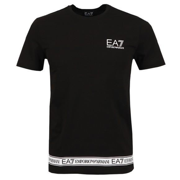 EA7 Emporio Armani Mens Black Small Logo T-Shirt main image