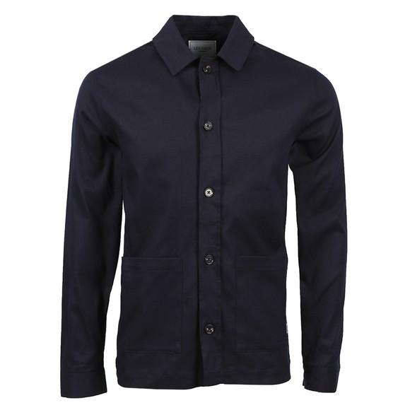 Les Deux Mens Blue Preston Dobby Hybrid Overshirt main image