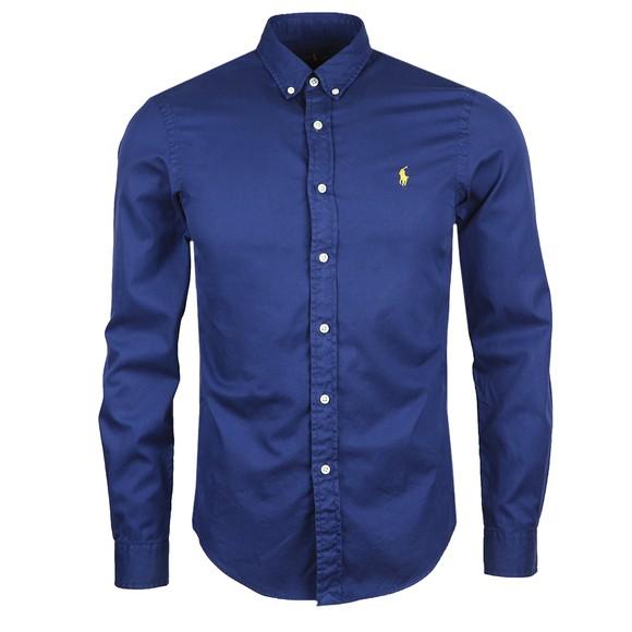 Polo Ralph Lauren Mens Blue Slim Fit Featherweight Twill Shirt