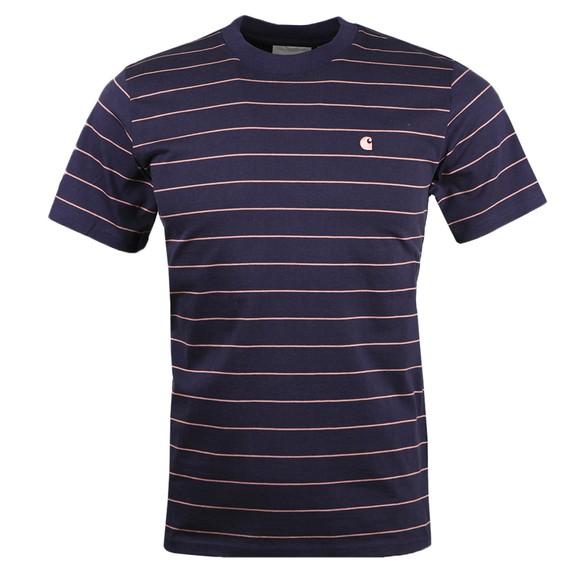 Carhartt WIP Mens Blue Denton Stripe T Shirt