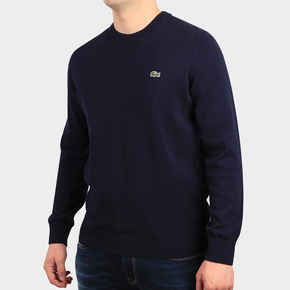 Lacoste Mens Blue AH1985 Crew Jumper