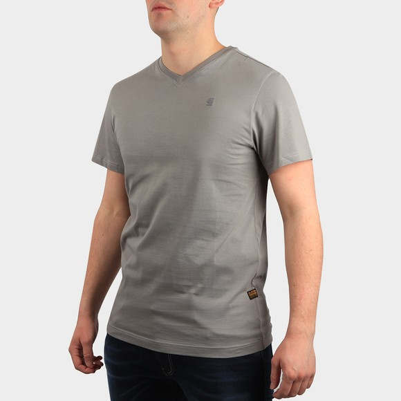 G-Star Mens Grey Base V Neck T Shirt