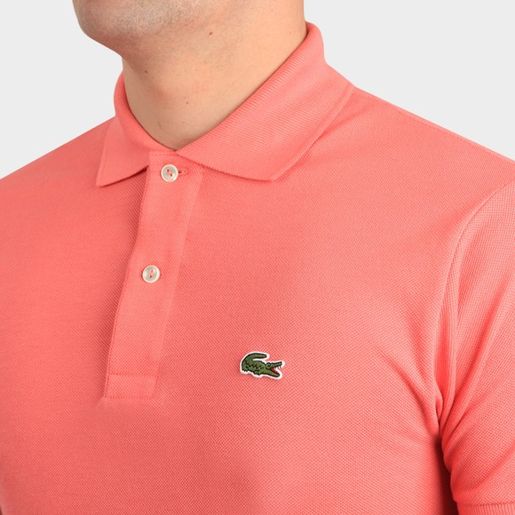 Lacoste Mens Pink L1212 Plain Polo Shirt main image