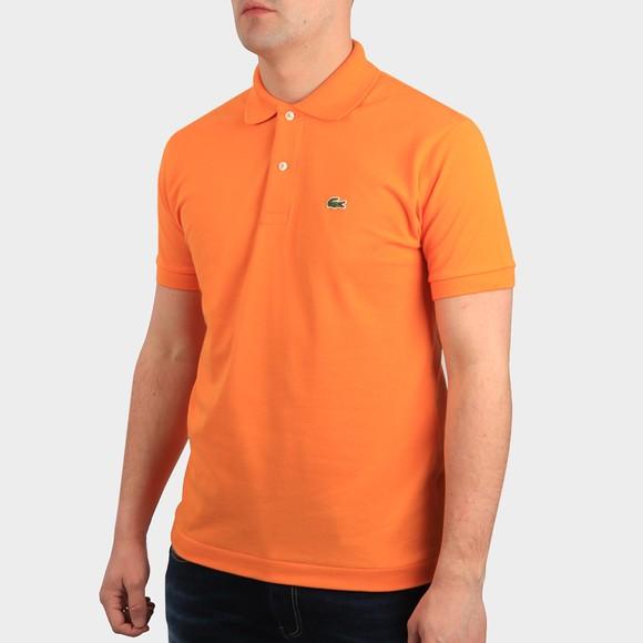 Lacoste Mens Orange L1212 Plain Polo Shirt main image
