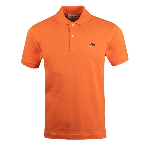 Lacoste Mens Orange L1212 Plain Polo Shirt