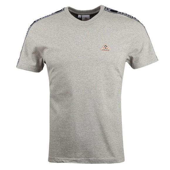 Pyrenex Mens Grey Randy Tape T Shirt