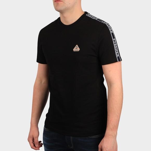 Pyrenex Mens Black Randy Tape T Shirt
