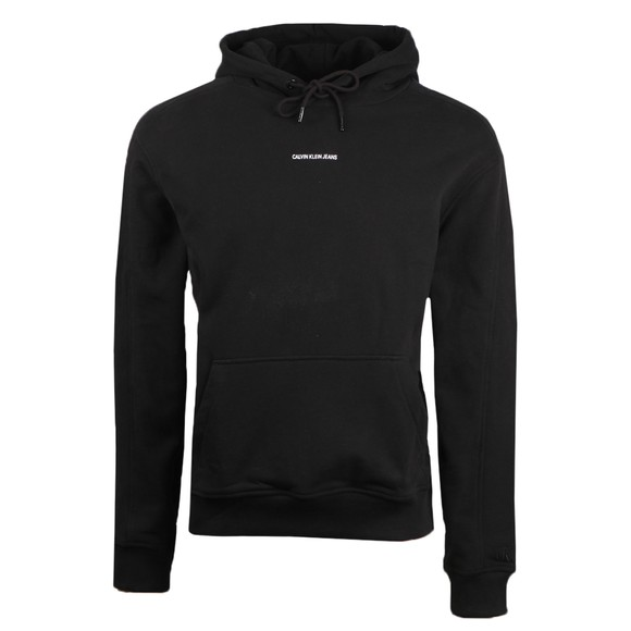 Calvin Klein Jeans Mens Black Micro Branding Hoody