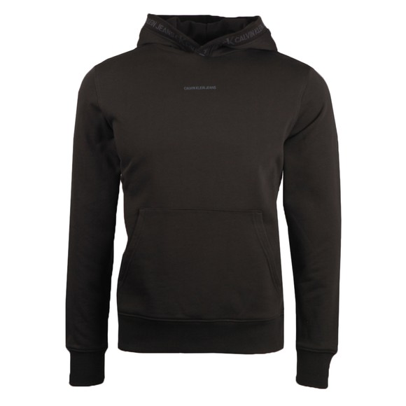 Calvin Klein Jeans Mens Black Logo Jacquard Hoody