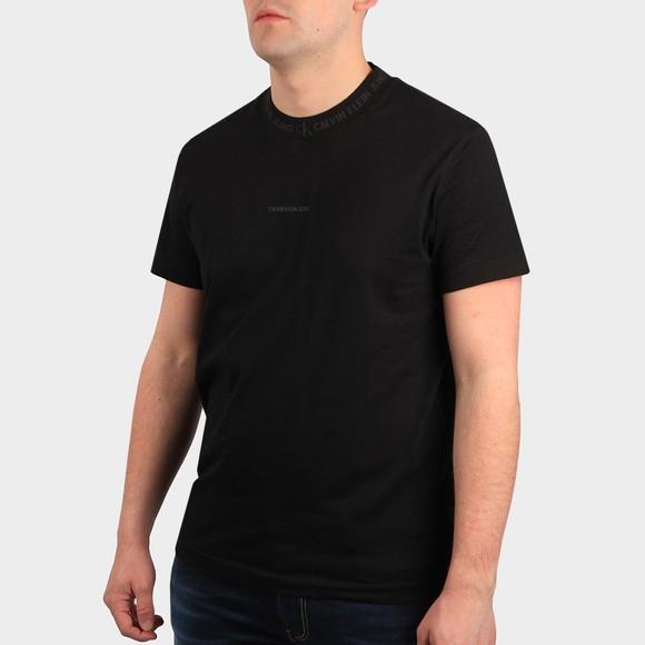 Calvin Klein Jeans Mens Black Logo Jacquard T Shirt