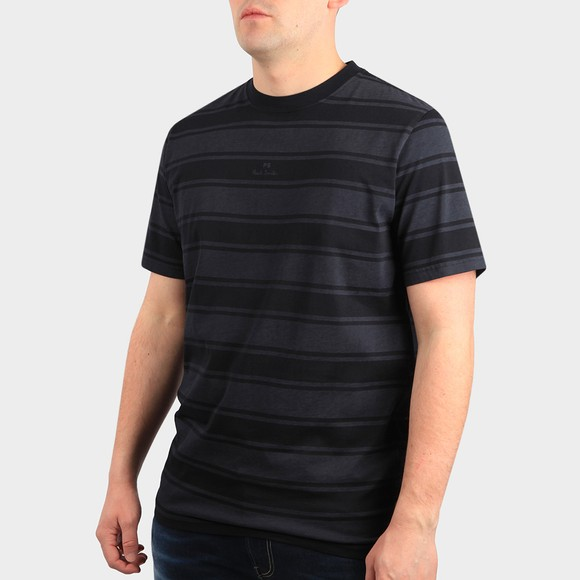 PS Paul Smith Mens Blue Regular Stripe T Shirt