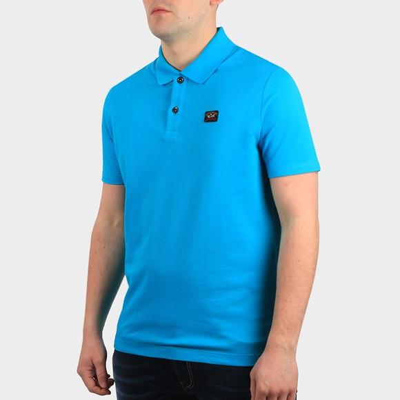 Paul & Shark Mens Turquoise Chest Badge Polo Shirt