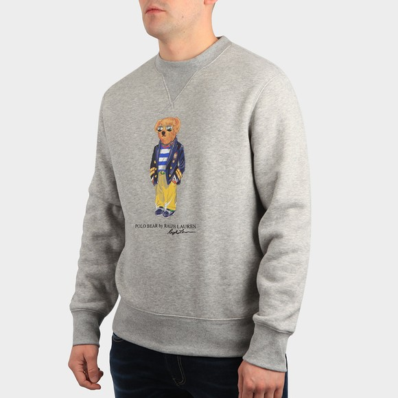 Polo Bear By Ralph Lauren Mens Grey Sunglass Bear Sweatshirt