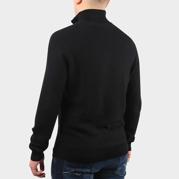 Polo Ralph Lauren Mens Black Waffle Half Zip Sweatshirt main image