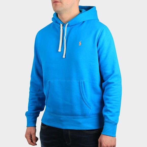 Polo Ralph Lauren Mens Blue Overhead Fleece Hoody