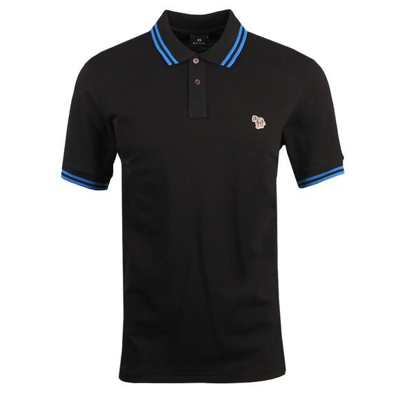 PS Paul Smith Mens Black Regular Tipped Zebra Polo Shirt