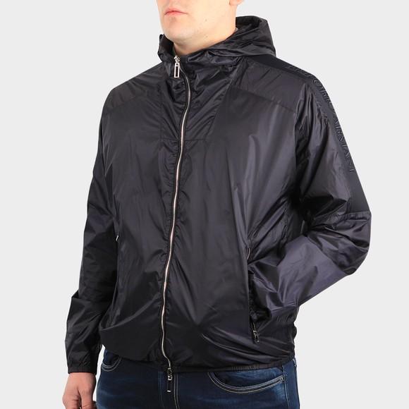 Emporio Armani Mens Blue 3K1BT5 Tape Sleeve Light Jacket