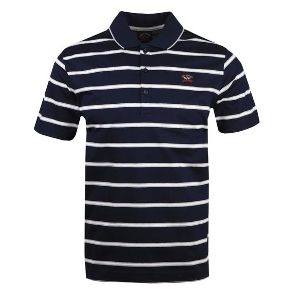 Paul & Shark Mens Blue Stripe Polo Shirt