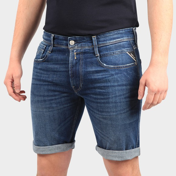 Replay Mens Blue New Anbass Denim Short main image