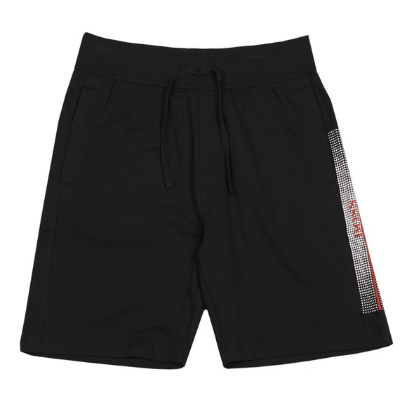 BOSS Bodywear Mens Black Pixelated Authentic Jersey Short
