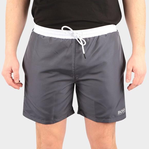 BOSS Bodywear Mens Grey Starfish Swim Short