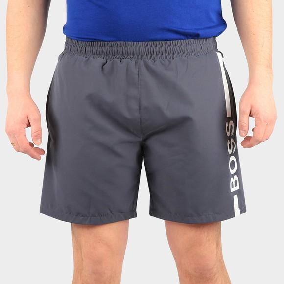 BOSS Bodywear Mens Grey Dolphin Swim Shorts