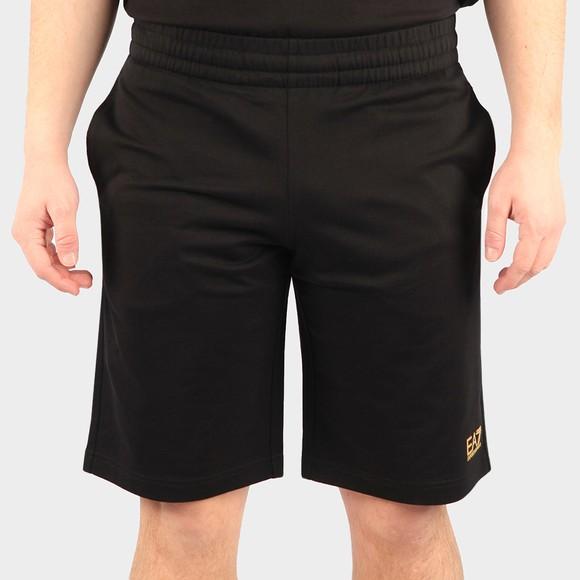 EA7 Emporio Armani Mens Black Sweat Short
