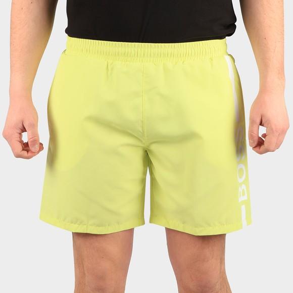 BOSS Bodywear Mens Green Dolphin Swim Shorts
