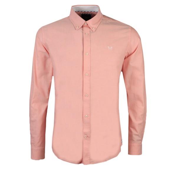 Crew Clothing Company Mens Pink Oxford Shirt