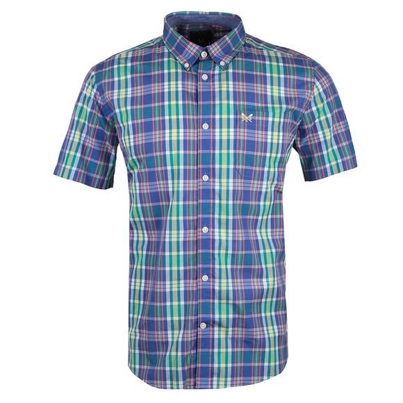 Crew Clothing Company Mens Multicoloured Raven Pop Check SS Shirt