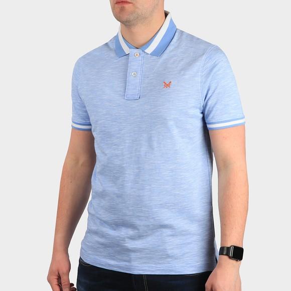 Crew Clothing Company Mens Blue Darwen Polo Shirt