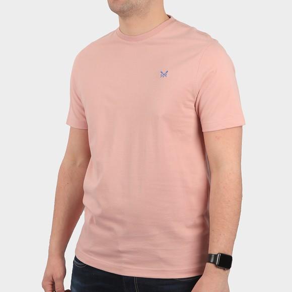 Crew Clothing Company Mens Pink Classic T-Shirt