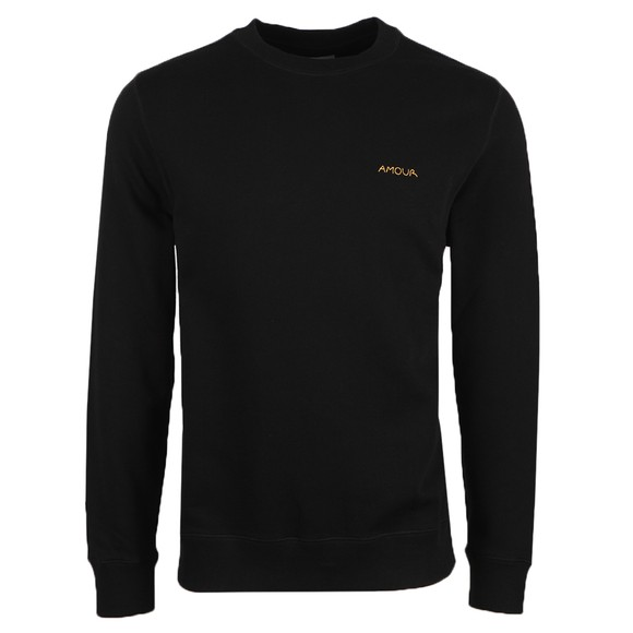 Maison Labiche Mens Black Amour Sweatshirt