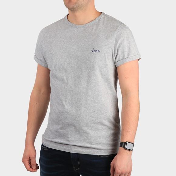 Maison Labiche Mens Grey Cheers Classic T-Shirt