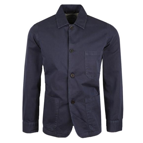 Portuguese Flannel Mens Blue Labura Overshirt