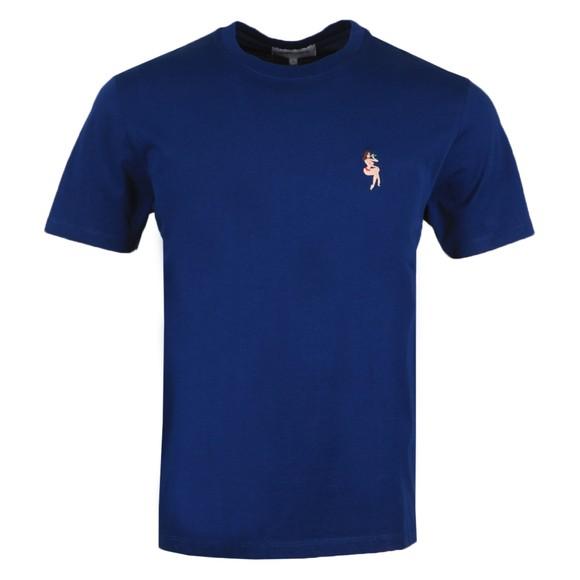 Maison Labiche Mens Blue Pin Up Heavy T-Shirt main image