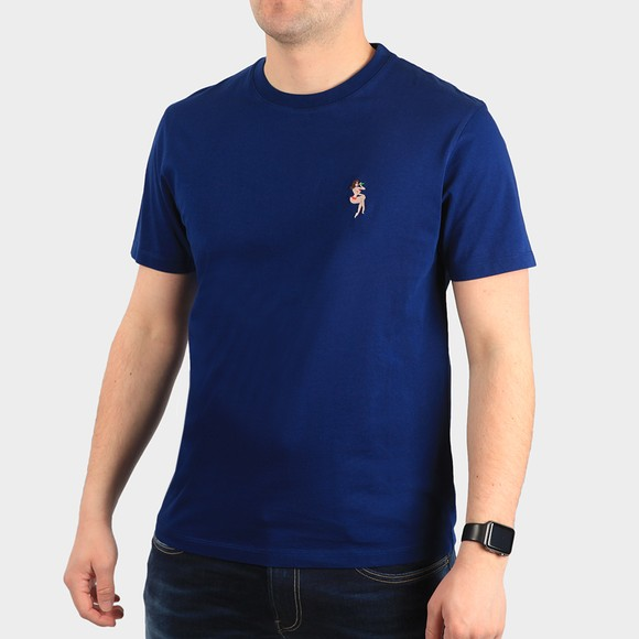 Maison Labiche Mens Blue Pin Up Heavy T-Shirt
