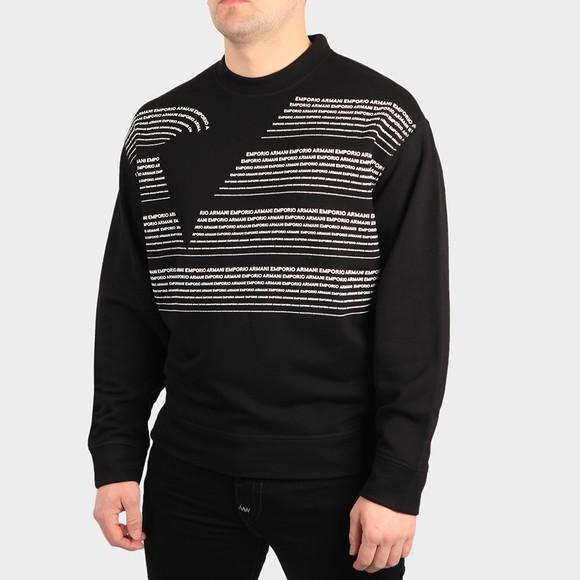 Emporio Armani Mens Black Allover Printed Sweatshirt