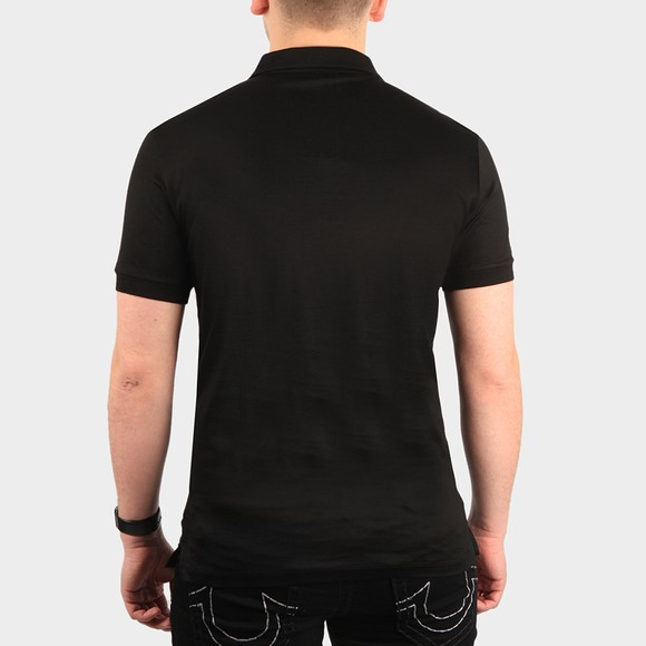 Emporio Armani Mens Black Pima Cotton Polo Shirt main image