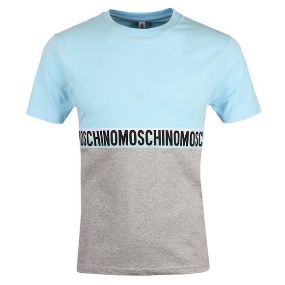 Moschino Mens Blue Tape 2 Tone T-Shirt