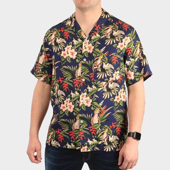 Portugese Flannel Mens Blue Short Sleeve Amazonia Shirt