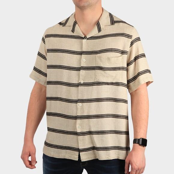 Portugese Flannel Mens Beige San Francisco Shirt