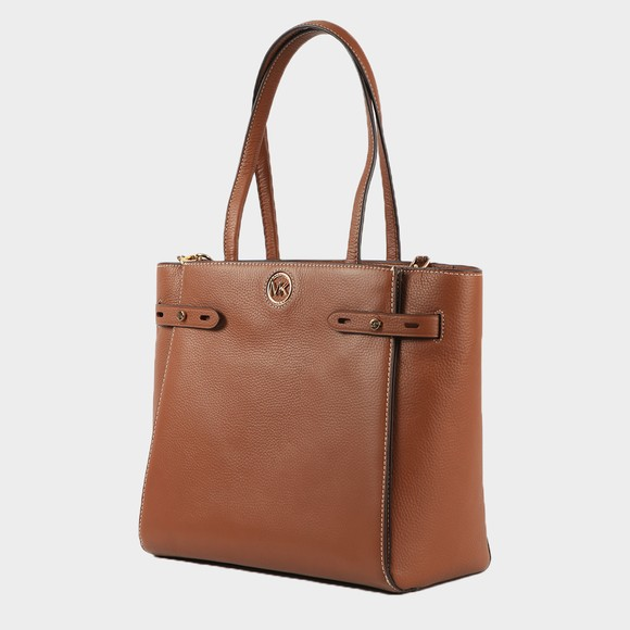 Michael Kors Womens Brown Carmen Large Belted Tote
