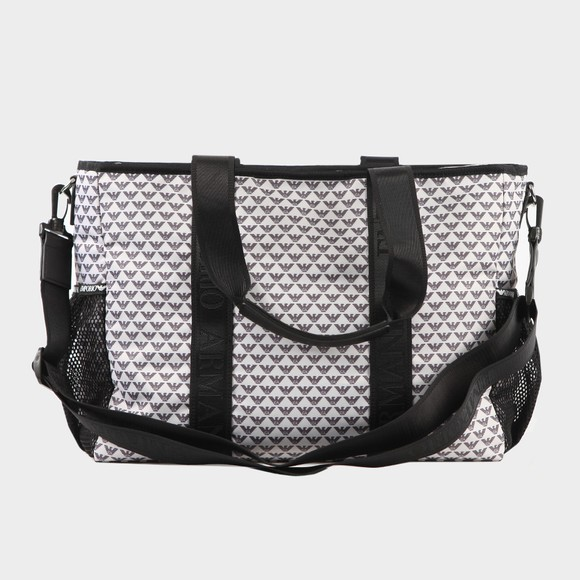 Emporio Armani Boys White Allover Logo Baby Change Bag