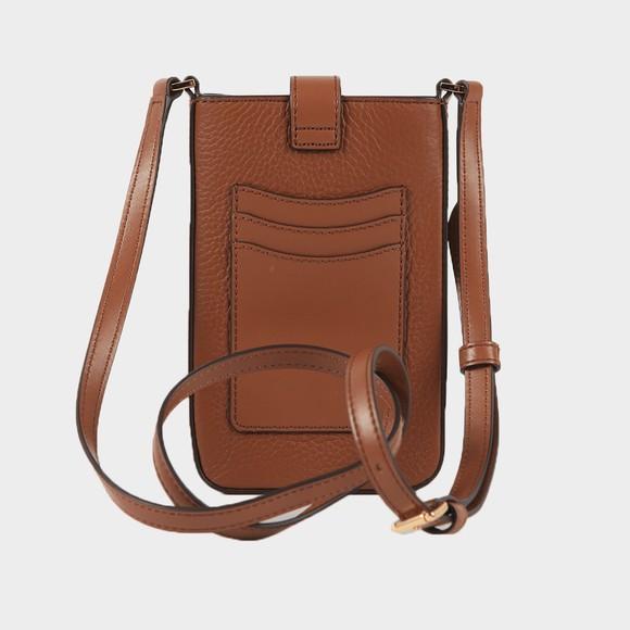Michael Kors Womens Brown Charm Small Tab Phone Crossbody Bag
