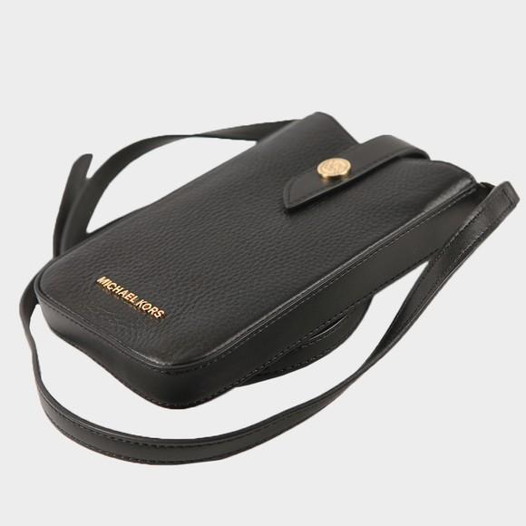 Michael Kors Womens Black Charm Small Tab Phone Crossbody Bag