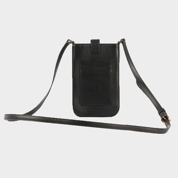 Michael Kors Womens Black Charm Small Tab Phone Crossbody Bag main image