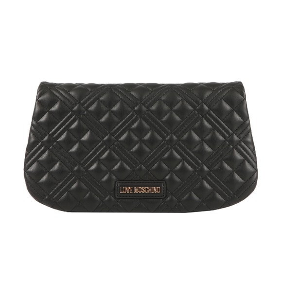 Love Moschino Womens Black Borsa Quilted Nappa Clutch